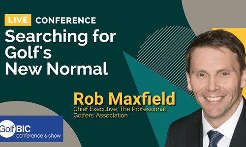 PGA Chief Executive Robert Maxfield speaks at GolfBIC Online Conference 2021